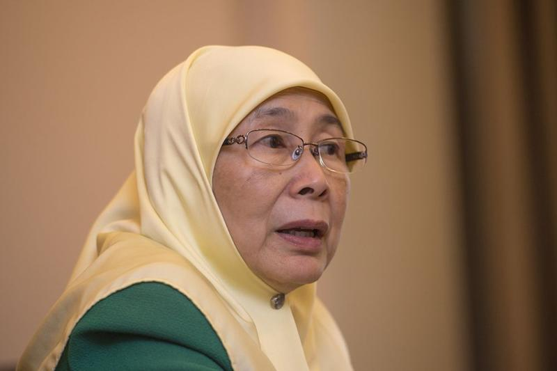 Dr Wan Azizah also stressed that she will remain as DPM as long as Tun Dr Mahathir Mohamad is prime minister. — Picture by Mukhriz Hazim