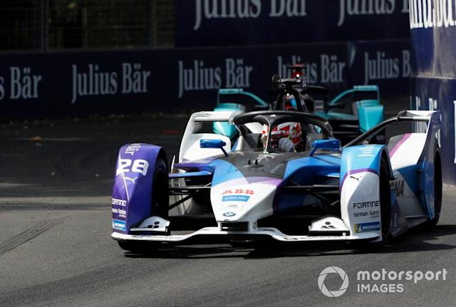 "Maximilian Günther, BMW I Andretti Motorsports, BMW iFE.20 Mitch Evans, Jaguar Racing, Jaguar I-Type 4 <span class=""copyright"">Alastair Staley / Motorsport Images</span>"