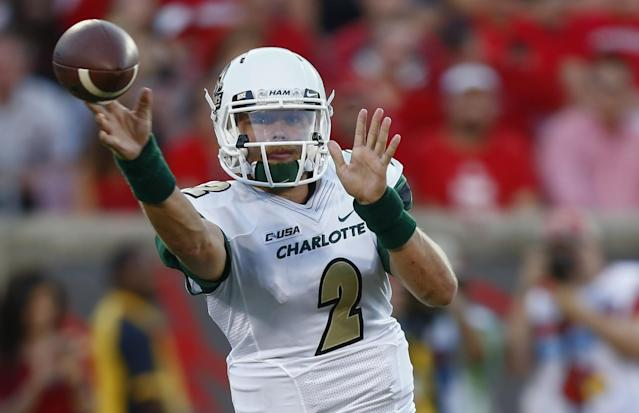 Olsen transferred to Charlotte after he was dismissed from Miami and Towson. (Getty)