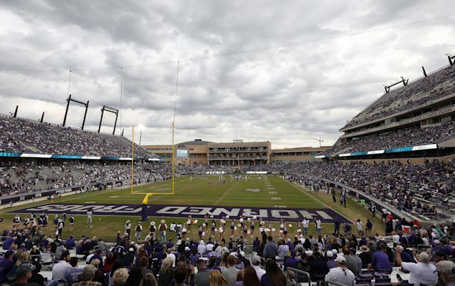 There will be no spring game for TCU in 2019. (Photo by Ronald Martinez/Getty Images)