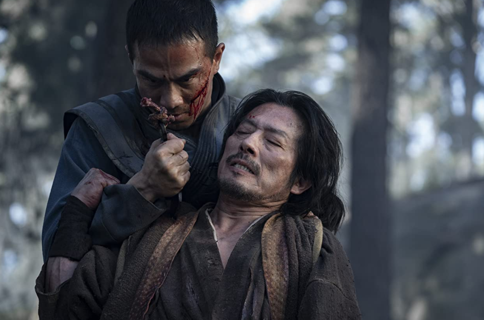 Joe Taslim and Hiroyuki Sanada in 'Mortal Kombat' (Warner Bros.)