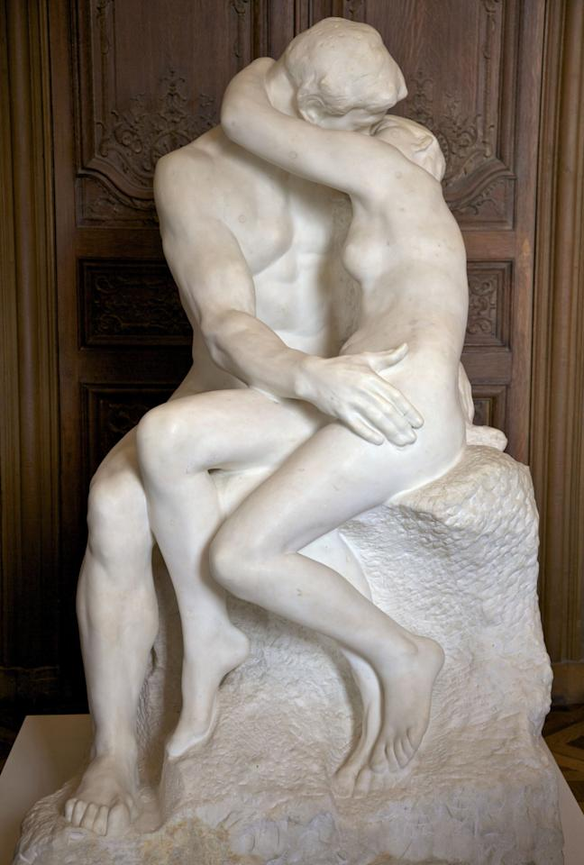 <p>Depicting Paolo Malatesta and Francesca da Rimini, two lovers from Dante's 'The Divine Comedy<i>' </i>this sculpted embrace created by Auguste Rodin in 1889 is known globally.<i>[Photo: Rex]</i></p>