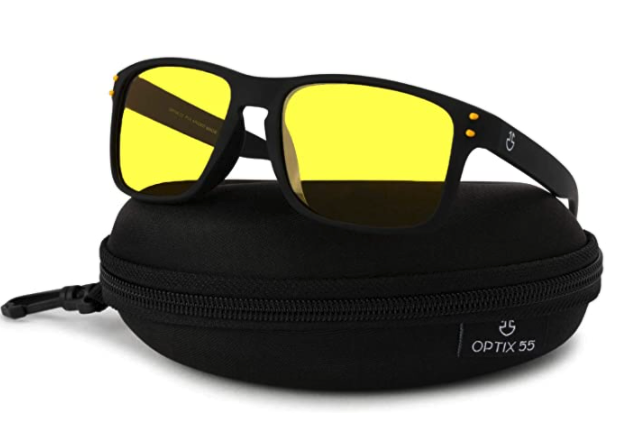 These polarized specs can keep things clear, and possibly save your life, during long nighttime hauls. (Photo: Amazon)