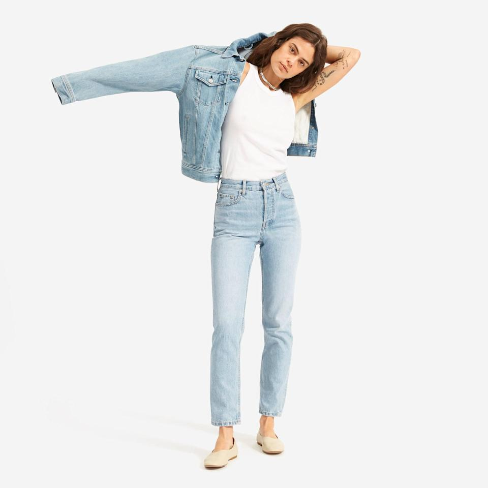 <p>These<span>Everlane The '90s Cheeky Straight Jeans</span> ($78) come in a bunch of different washes, but we love the light style.</p>