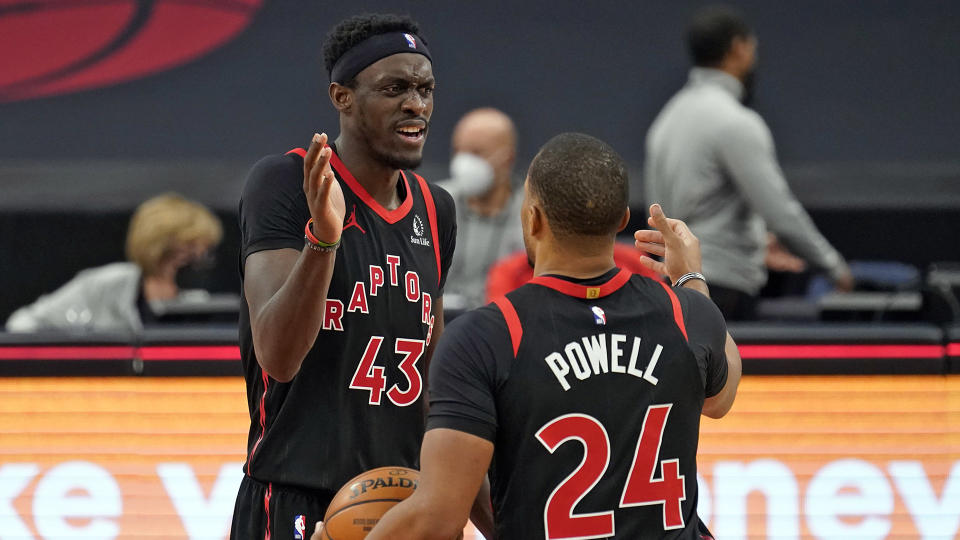 Toronto Raptors' Pascal Siakam and Norm Powell have levelled up in February. (AP Photo/Chris O'Meara)