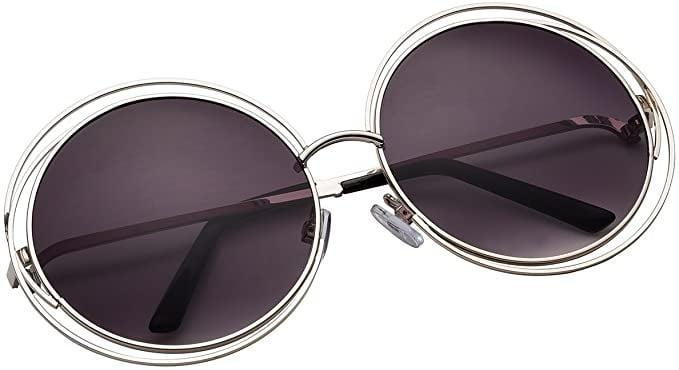 <p>Embrace the circle rim trend but make it unique with the <span>VIVIENFANG Oversized Round Polarized Sunglasses</span> ($10). It also comes in gold!</p>