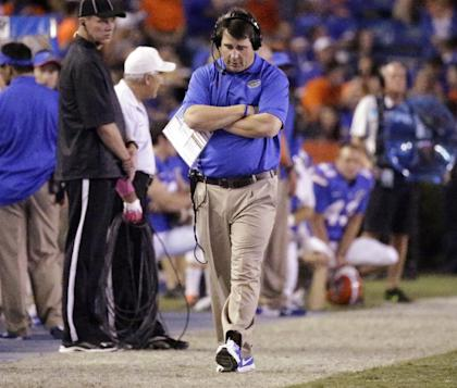 Will Muschamp's Gators are 2-3 in conference play and still must face SEC East division leader Georgia. (AP)