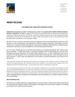 Filo Mining Corp. Announces Corporate Update (CNW Group/Filo Mining Corp.)