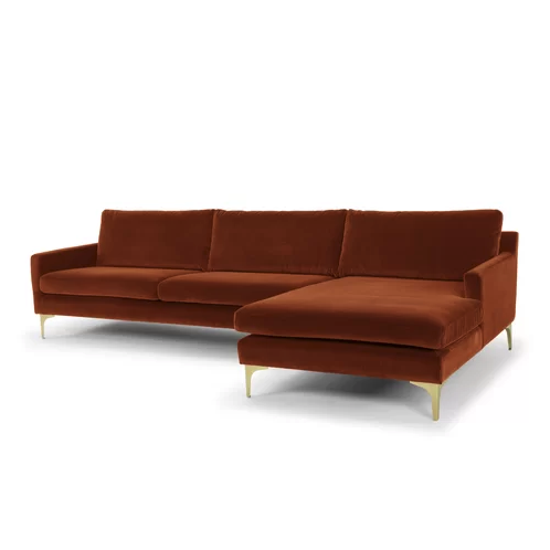 "So you and your roommate can <em>both</em> stretch out during your Sunday Netflix binge. <a rel=""nofollow"" href=""https://www.wayfair.com/furniture/pdp/willa-arlo-interiors-danyel-sectional-w001408580.html?piid=36568172&ds=156792"" rel=""nofollow"">SHOP NOW</a>: Danyel Sectional in Sapphire Rust by Willa Arlo Interiors, $1,342 $2,428"