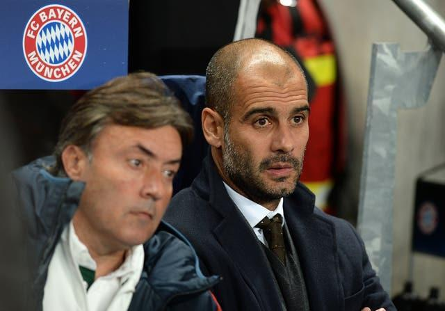 Bayern were eliminated in the semi-finals in all three of their seasons under Guardiola (Martin Rickett/PA).
