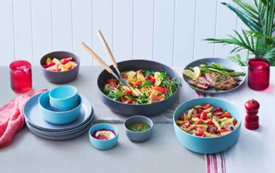 The picnicware on offer at Coles. Source: Coles
