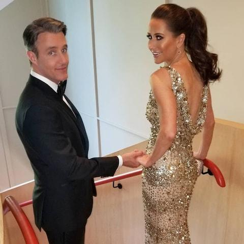 Jessica Mulroney and her husband Ben at the Frogmore House reception - Credit: Instagram