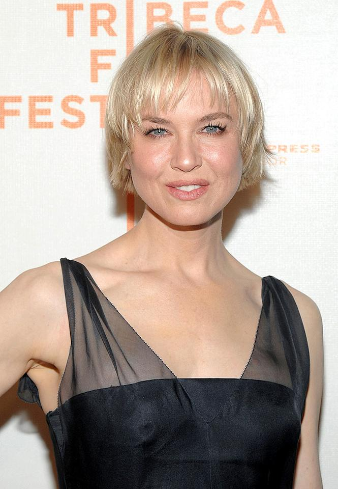 "Speaking of questionable coifs, what do you make of Renee Zellweger's updated mane? We find the hue and cut a tad too dramatic for the shape of her dome. Discuss. Jamie McCarthy/<a href=""http://www.wireimage.com"" target=""new"">WireImage.com</a> - April 22, 2010"