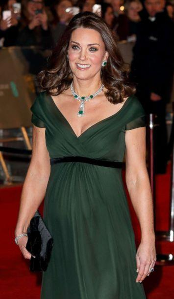 PHOTO: Catherine, Duchess of Cambridge attends the EE British Academy Film Awards (BAFTA) held at the Royal Albert Hall on Feb. 18, 2018 in London. (Max Mumby/Indigo/Getty Images)