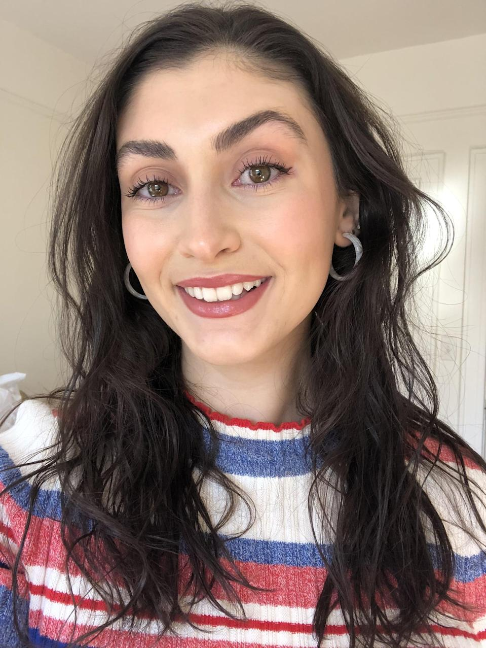 """<p>""""I like my foundation coverage to be somewhere between lightweight and medium and I want it to blur any imperfections and breakouts I have while still looking natural. It's a tall order, I know, but a girl can dream. When I applied the <span>Huda Beauty #FauxFilter Skin Finish Foundation Stick</span> ($39) in Toasted Coconut 240N, I immediately noticed how smooth it went onto my skin. My previous notion of stick foundations was that they can be drying and hard to blend, but that couldn't be farther from the truth about this one. I ended up blending in the first layer of foundation with a densely packed buffing brush and then adding a tad more to cover my chin area. The formula melted into my skin and felt soft - almost as if I wasn't wearing anything on it. I've now used it every day since I got my hands on it with no plan on stopping anytime soon."""" - Jessica Harrington, associate editor, Beauty</p> <p>If you want to read more, here is the <a href=""""https://www.popsugar.com/beauty/huda-beauty-fauxfilter-skin-finish-foundation-stick-review-47867899"""" class=""""link rapid-noclick-resp"""" rel=""""nofollow noopener"""" target=""""_blank"""" data-ylk=""""slk:complete Huda Beauty #FauxFilter Skin Finish Foundation Stick review"""">complete Huda Beauty #FauxFilter Skin Finish Foundation Stick review</a>.</p>"""