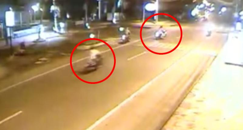 CCTV still of the moment of the crash in Koh Samui.