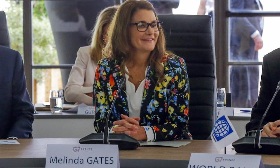 Melinda Gates attends the G7 Finance meeting in Chantilly, north of Paris, in 2019.
