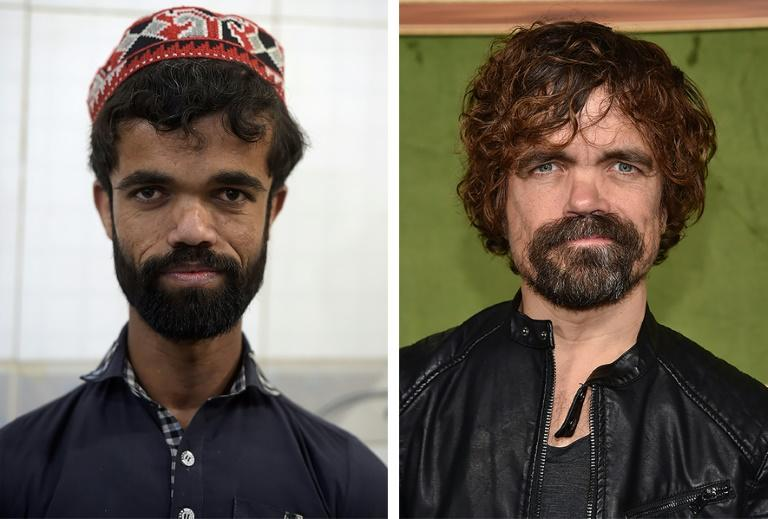 Side-by-side photgraphs of Pakistani waiter Rozi Khan and US actor Peter Dinklage have unsurprisingly made their way onto social media