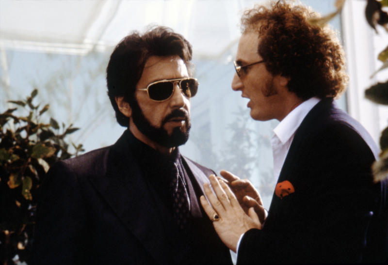 American actors Al Pacino and Sean Penn on the set of Carlito's Way, directed by Brian De Palma. (Photo by Universal Pictures/Sunset Boulevard/Corbis via Getty Images)