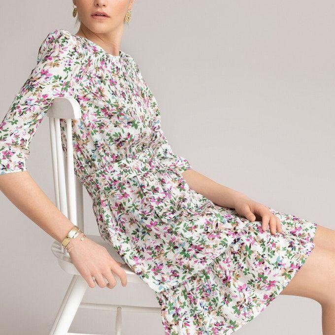 <p><strong>£52 (save 40% with CODE: SUMMER)</strong></p><p>Love Holly's dress but can't order your size? This floral print mini dress is equally as covetable and new in, so still in stock.</p>