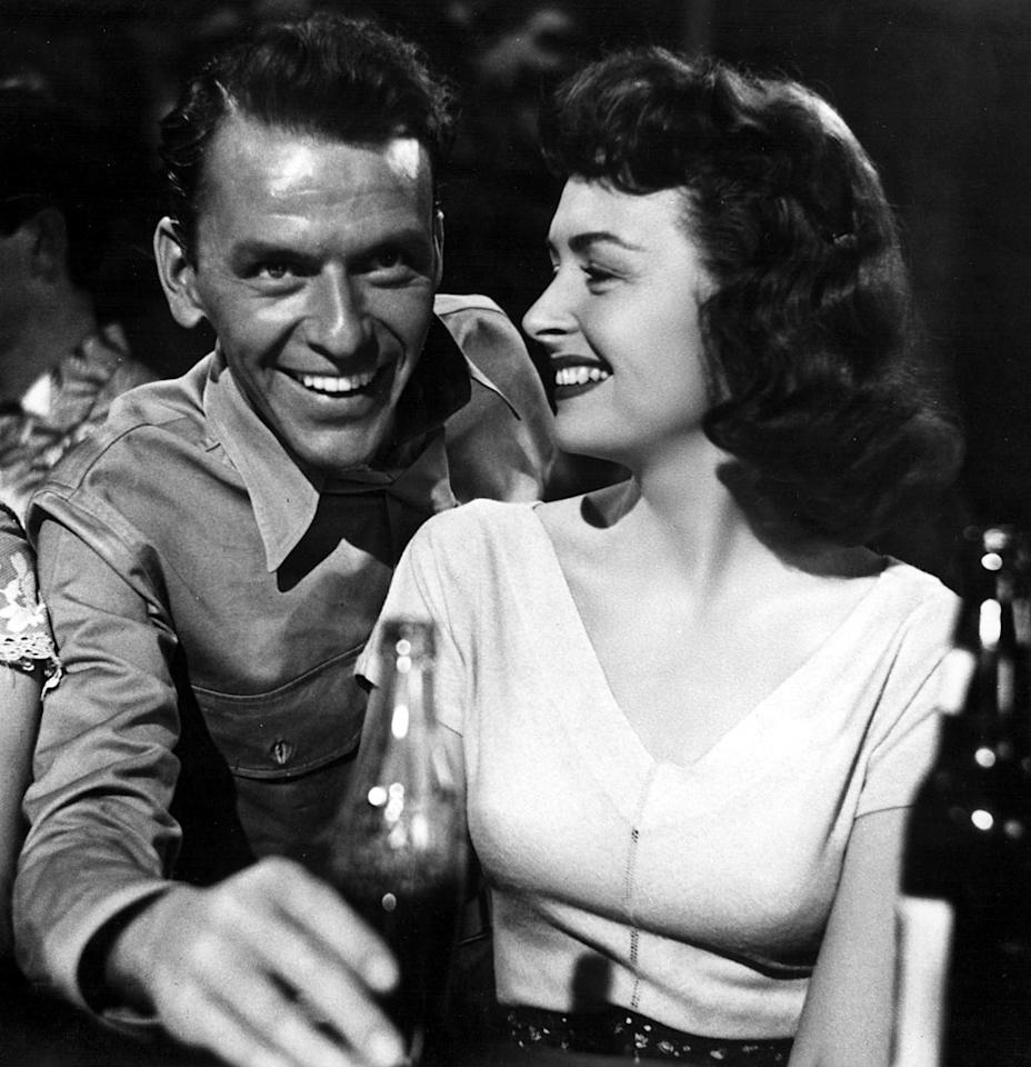 """Frank Sinatra, Best Supporting Actor, 'From Here to Eternity' (1953)  Old Blue Eyes portrayed drunken Pvt. Angelo Maggio in Oscar's Best Picture champ """"From Here to Eternity."""" When told that drinking is a weakness, Maggio responds, """"I don't like weakness … but I like to drink!"""""""