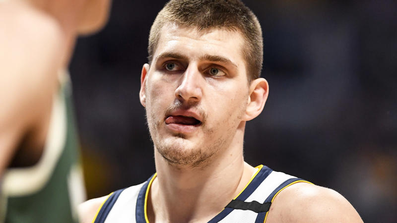 Nikola Jokic, pictured here in action for the Denver Nuggets.