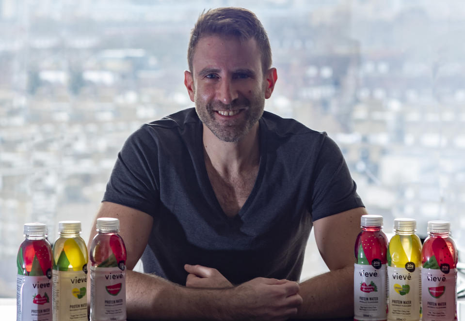 Rafael Rozenson, founder and chief executive of Vieve Proetin Water. Photo: Vieve Protein Water