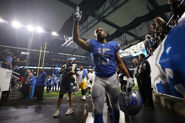 Golden Tate said goodbye to Detroit — but what does that mean for fantasy players? (Photo by Gregory Shamus/Getty Images)