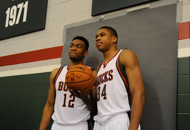 The combined ages of Jabari Parker (left) and Giannis Antetokounmpo make one Kevin Garnett. (USA TODAY Sports)