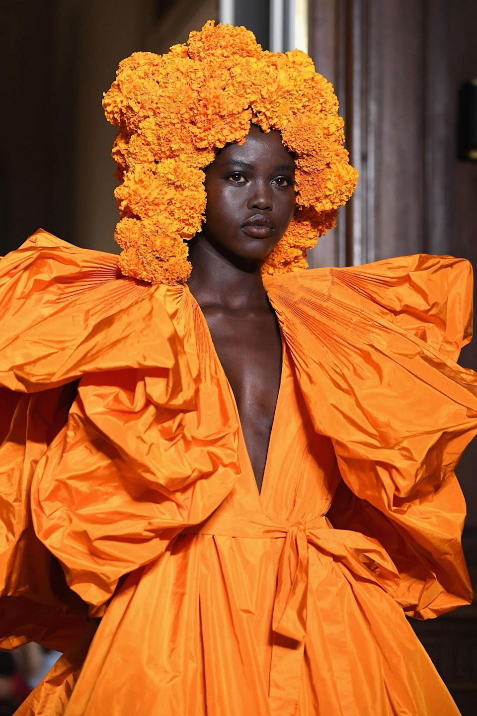 At Paris Fashion Week, Valentino's best runway shows have been continually elevated by a treasure trove of hair adornments.