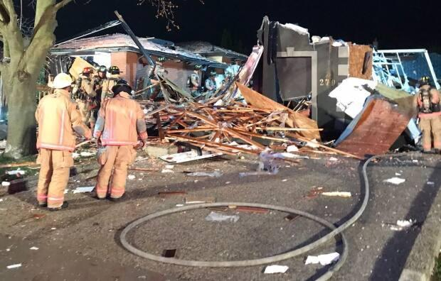 """Fire officials say the damage from the explosion is likely """"substantial."""""""