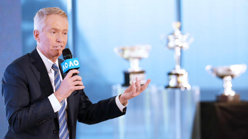 Craig Tiley, pictured here speaking to the media ahead of the Australian Open.
