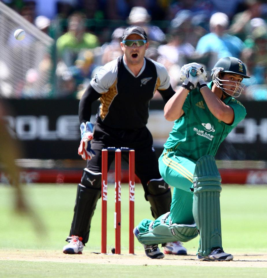 PORT ELIZABETH, SOUTH AFRICA - DECEMBER 26: Quinton de Kock of South Africa during the 3rd T20 International match between South Africa and New Zealand at AXXESS St Georges on December 26, 2012 in Port Elizabeth, South Africa. (Photo by Richard Huggard / Gallo Images/Getty Images)