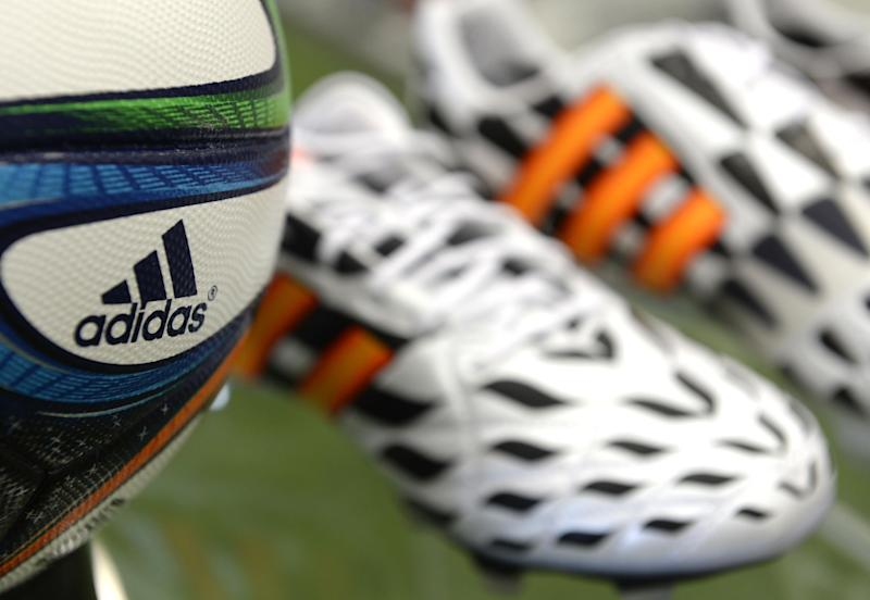 Adidas said sales only grew two percent between April and June, to 3.46 billion euros, despite the boost offered by the World Cup in Brazil
