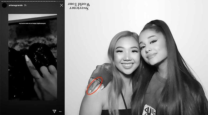 Grande posted the left-hand photo on Instagram story on June 19, 2019.
