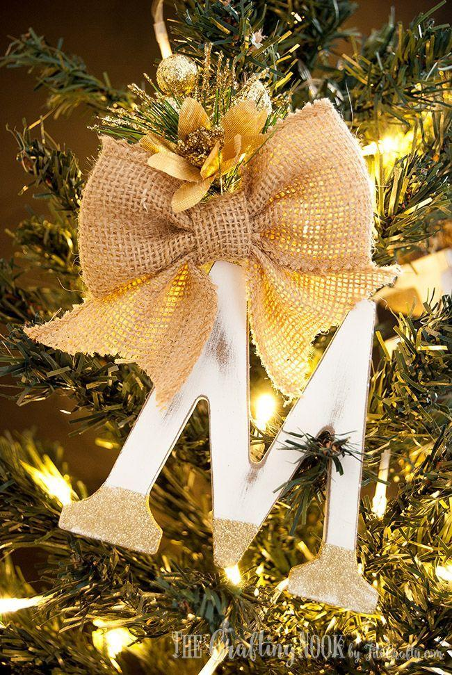 """<p>Add a personal touch to your tree with an initial ornament. Make it even better by adding one for every member of the fam.</p><p>Get the tutorial at <a href=""""https://thecraftingnook.com/diy-rustic-monogram-christmas-ornaments/"""" rel=""""nofollow noopener"""" target=""""_blank"""" data-ylk=""""slk:The Crafting Nook"""" class=""""link rapid-noclick-resp"""">The Crafting Nook</a>.</p>"""
