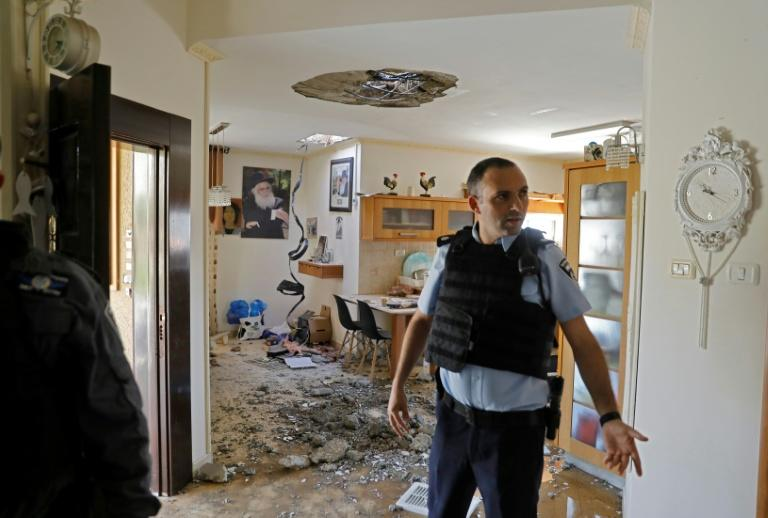 This house in the Israeli town of Netivot was damaged by one of the hundreds of rockets fired from Gaza