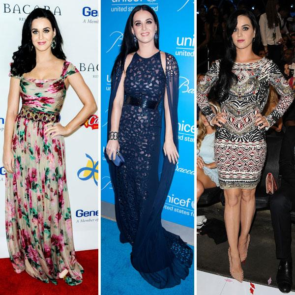 "<b>Best dressed celebrities of 2012: Katy Perry </b><br><br>Katy's style came up trumps this year as she opted for gowns that flattered her figure. Our fashion picks included this floral <a target=""_blank"" href=""http://uk.lifestyle.yahoo.com/photos/top-10-best-dressed-celebrities-this-week-16-22-nov-slideshow/"">Dolce and Gabbana gown</a>, an on-trend navy Naeem Khan SS13 frock and an embellished mini dress at the MTV EMA's.<br><br>© Rex"