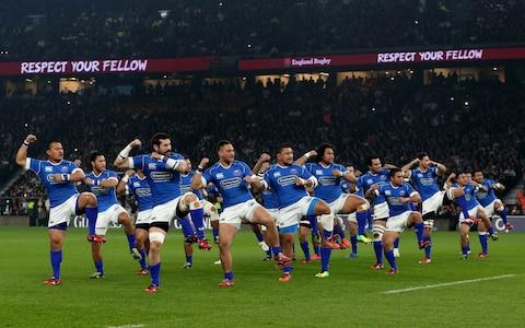 Samoa players - Credit: getty images