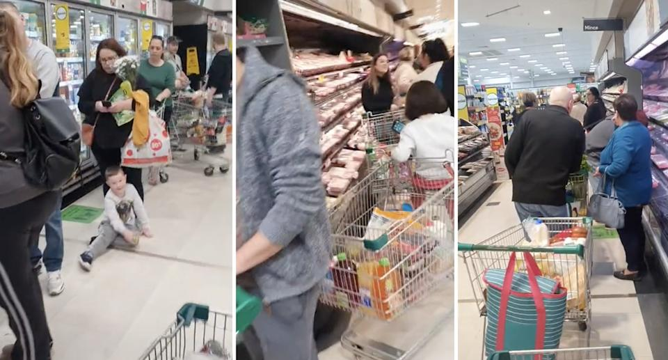 Panic buying takes hold in a Woolworths in SA despite no lockdown being announced. Source: TikTok