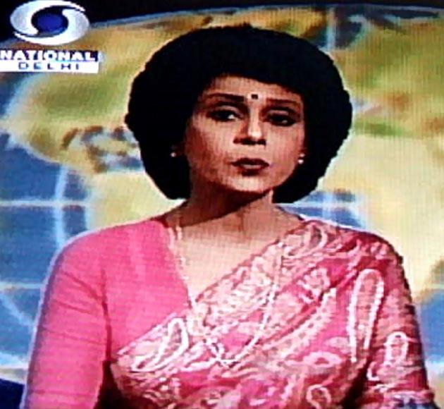 Known for her hair style as much as she was for the erudite way in which she read the news, Gitanjali Aiyar joined DD in 1971. Aiyer presented the news for 30 years, during which she won the best anchor award four times. In a piece she had written for Outlook India in 2002, Aiyer speaks about how after DD went national and switched to colour post the Asian Games in 1982, she suddenly started to get recognised by people on the road, followed by school boys and even had auto drivers refusing to charge fare from her. Over the years, Aiyar has also been the face of a number of print ads and has acted in the serial Khandaan. She is currently associated with the World Wildlife Fund (WWF).