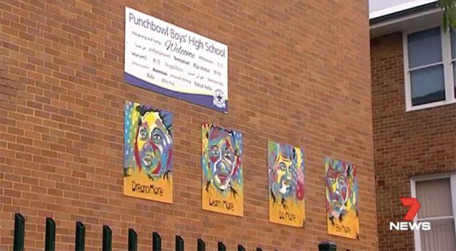 Punchbowl Boys High School. Picture: 7 News