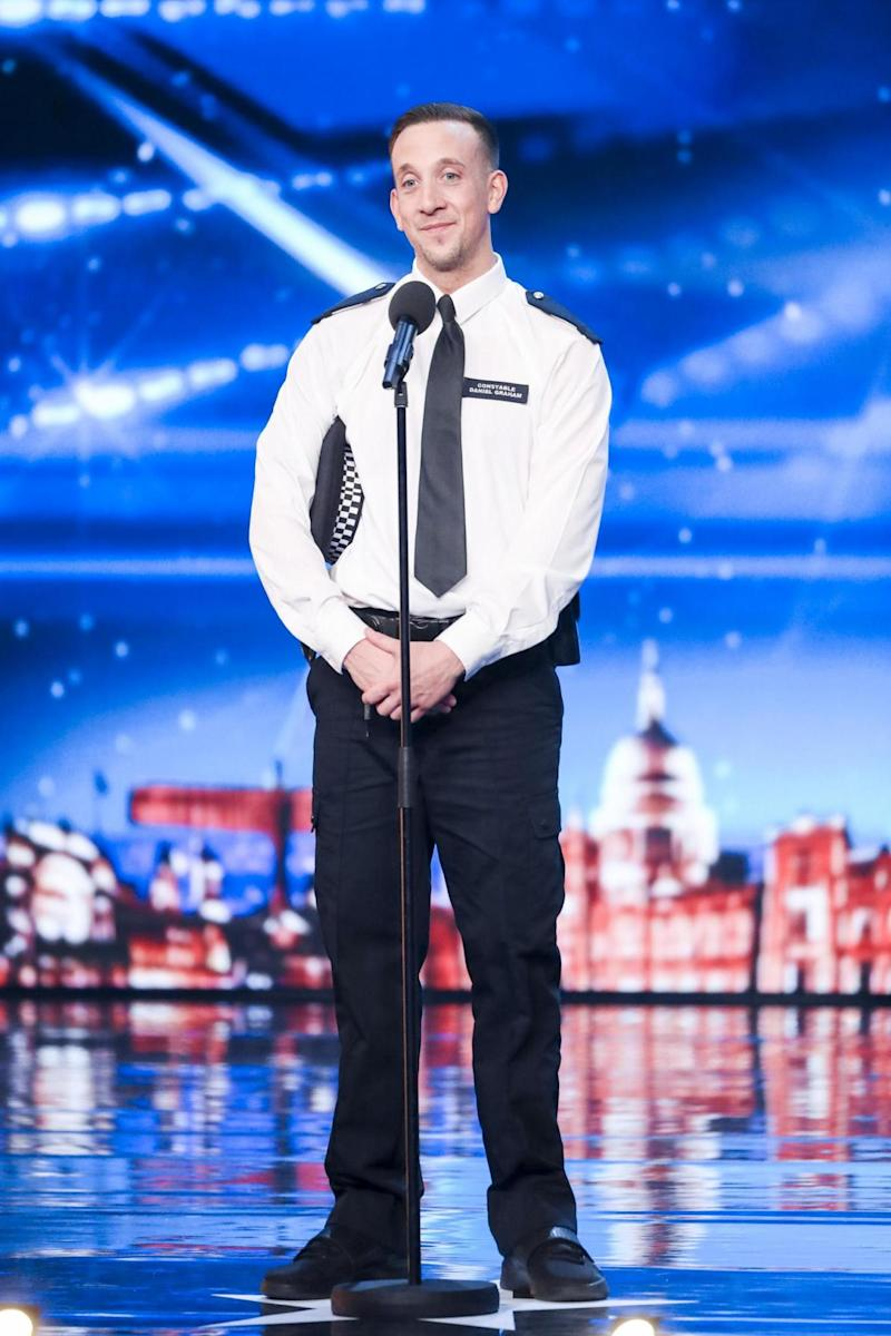 PC Dan Graham: The world's best dancing cop? (ITV/Thames/Syco)