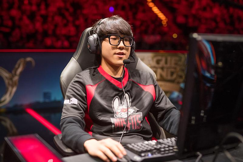KaKAO won't be wearing the Misfits jersey anymore (Lolesports/Riot Games)