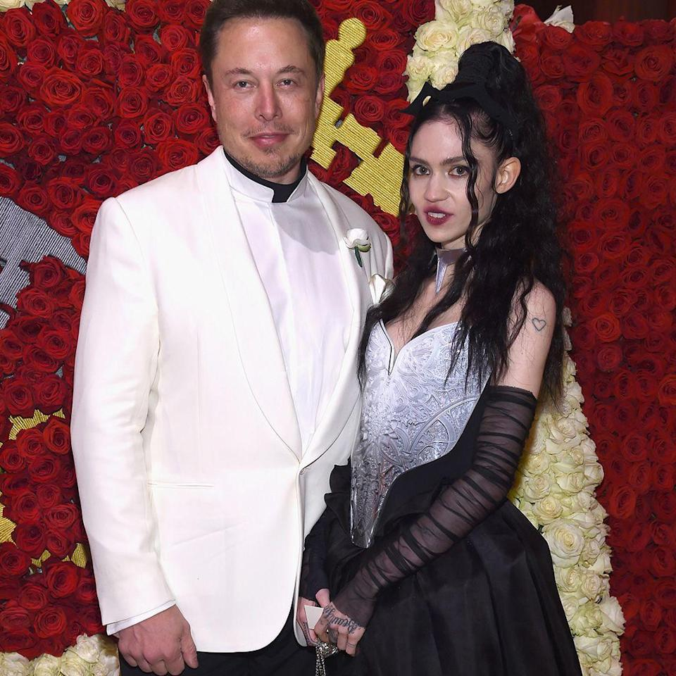 """<p><strong>Age gap: </strong>16 years </p><p>Elon, 46, and Grimes, 30, went public at the 2018 Met Gala. According to <em><a href=""""https://www.thecut.com/2018/05/elon-musk-and-grimes-dating.html"""" rel=""""nofollow noopener"""" target=""""_blank"""" data-ylk=""""slk:The Cut"""" class=""""link rapid-noclick-resp"""">The Cut</a></em>, they first connected after Elon realized Grimes had already made a joke about artificial intelligence that he planned to tweet.</p>"""