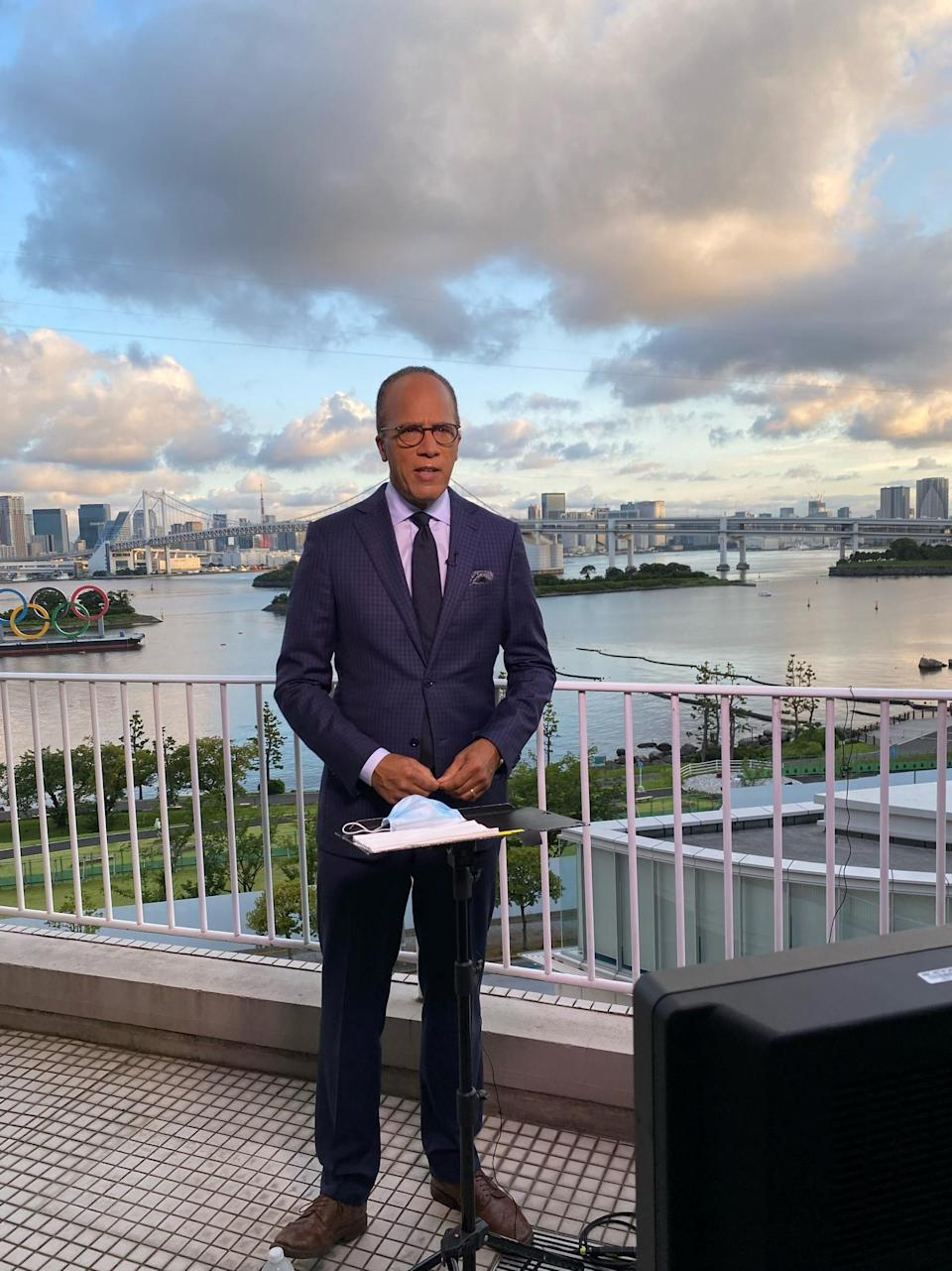Lester reporting in Tokyo. - Credit: Courtesy of NBC