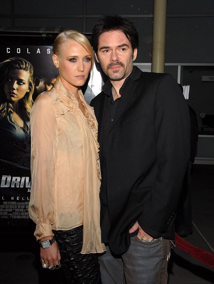 """<a href=""""http://movies.yahoo.com/movie/contributor/1800022672"""">Billy Burke</a> and guest attend the Los Angeles premiere of <a href=""""http://movies.yahoo.com/movie/1810143371/info"""">Drive Angry 3D</a> on February 22, 2011."""