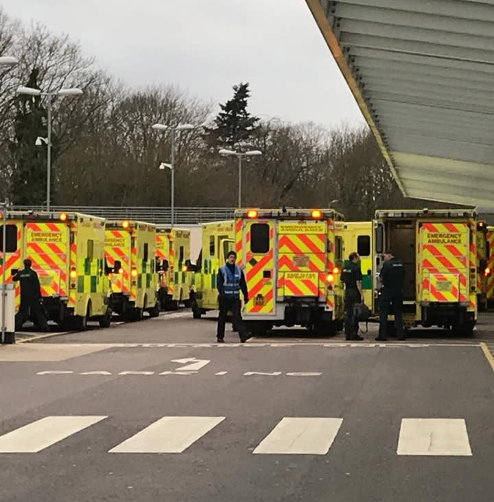 The shocking photo details the current state of the NHS. (Leah Butler-Smith)