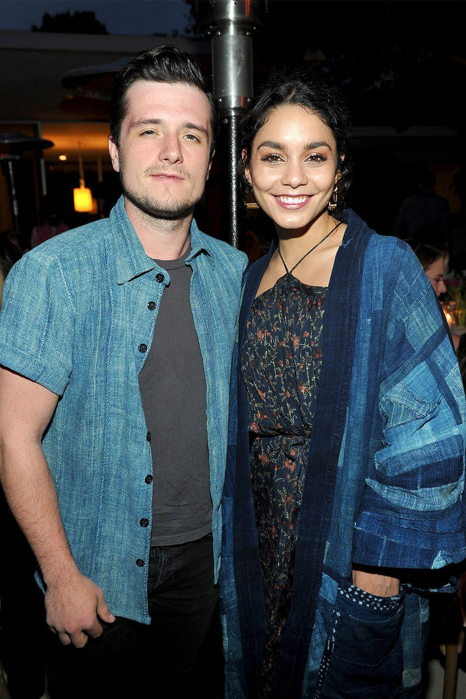 """<p>Shortly after splitting with her <em>High School Musical </em>co-star Zac Efron, Vanessa Hudgens reportedly began dating her <em>Journey 2: The Mysterious Island</em> co-star Josh Hutcherson. However, the relationship didn't last long.</p><p>When asked how long they'd been dating <a href=""""https://www.youtube.com/watch?time_continue=220&v=I_zc4a0kGkA"""" rel=""""nofollow noopener"""" target=""""_blank"""" data-ylk=""""slk:in an interview"""" class=""""link rapid-noclick-resp"""">in an interview</a> on the Australian version of <em>TODAY, </em>Hutcherson confirmed they once dated. """"We're not…No. We were at one point, but she broke my heart,"""" <span class=""""redactor-unlink"""">Josh joked</span>. """"I'm just kidding. That was a while ago, we're just really good friends now.""""</p>"""