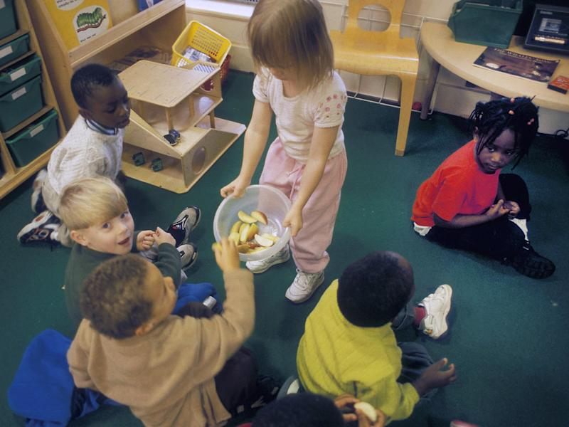Parents of younger children have been promised 30 hours free childcare: Rex